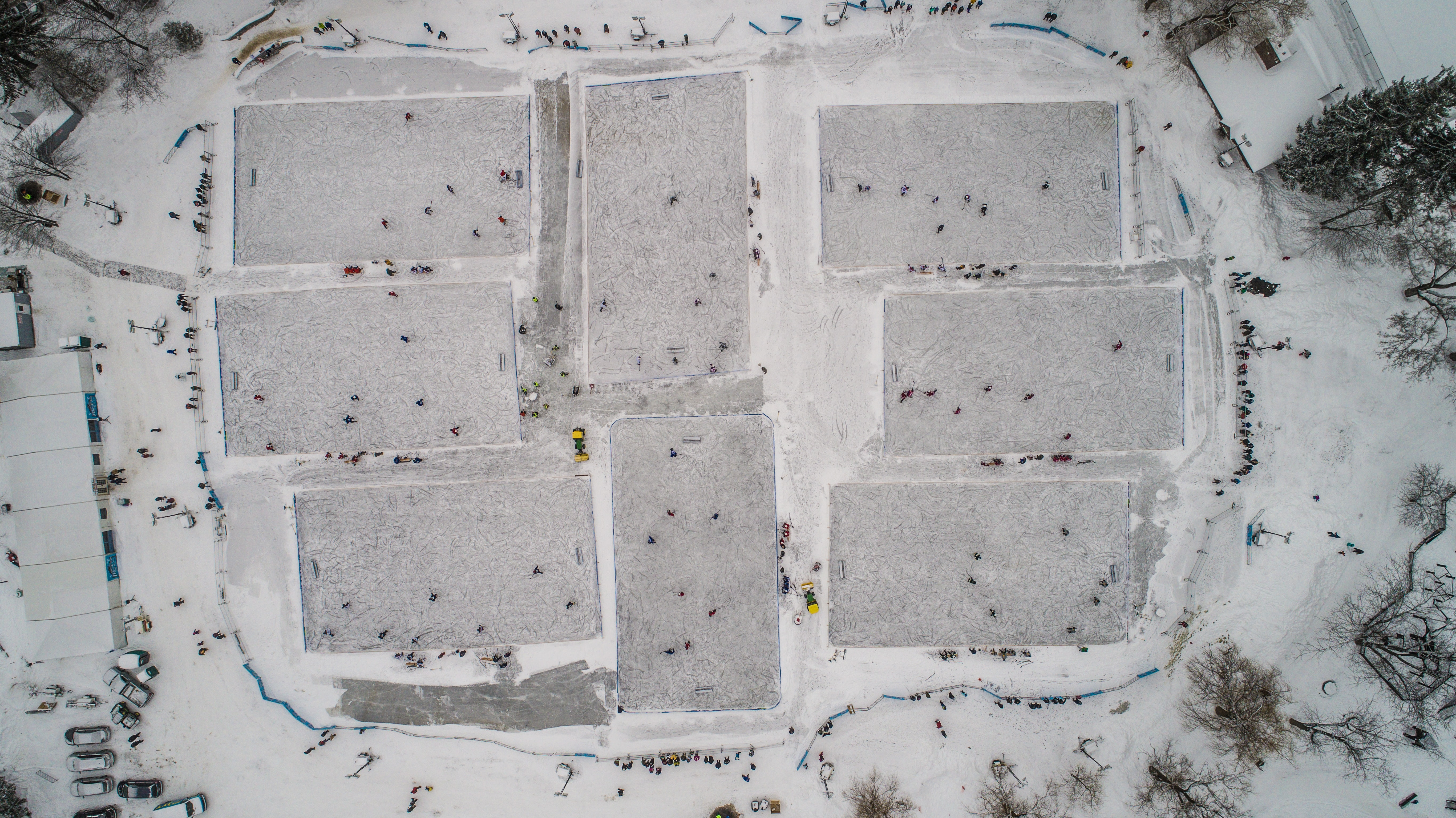 aerial photo of ice field