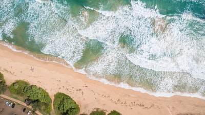 aerial photo of seashore drone view teams background