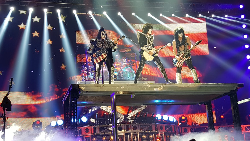 Kiss band on stage