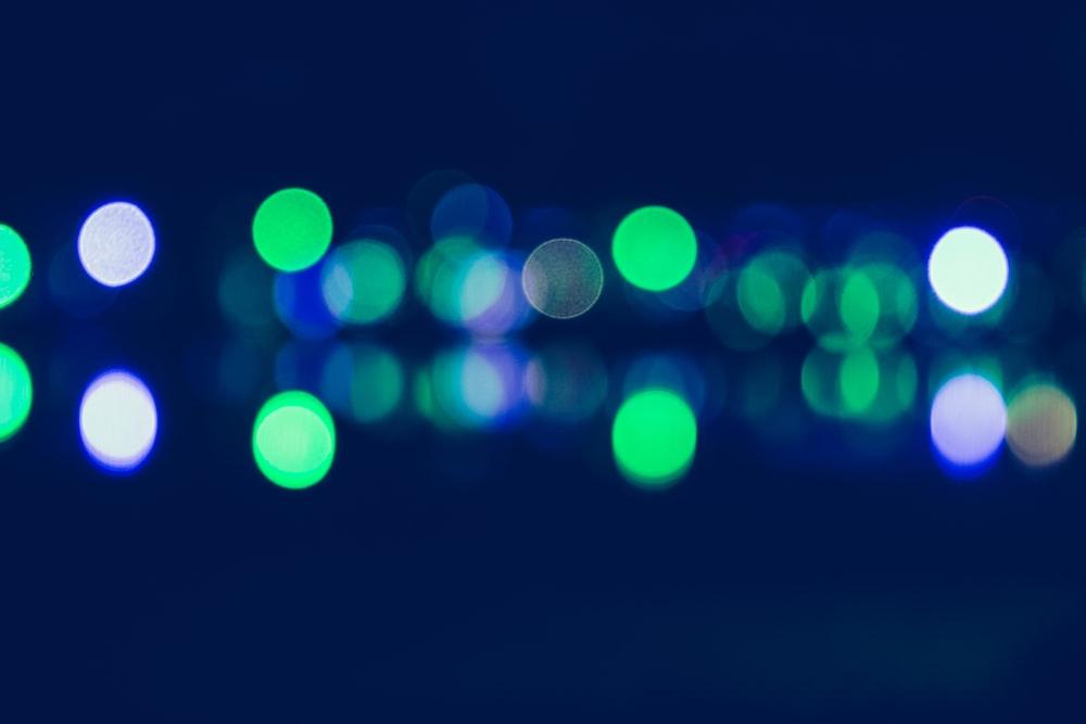 bokeh photography of lights