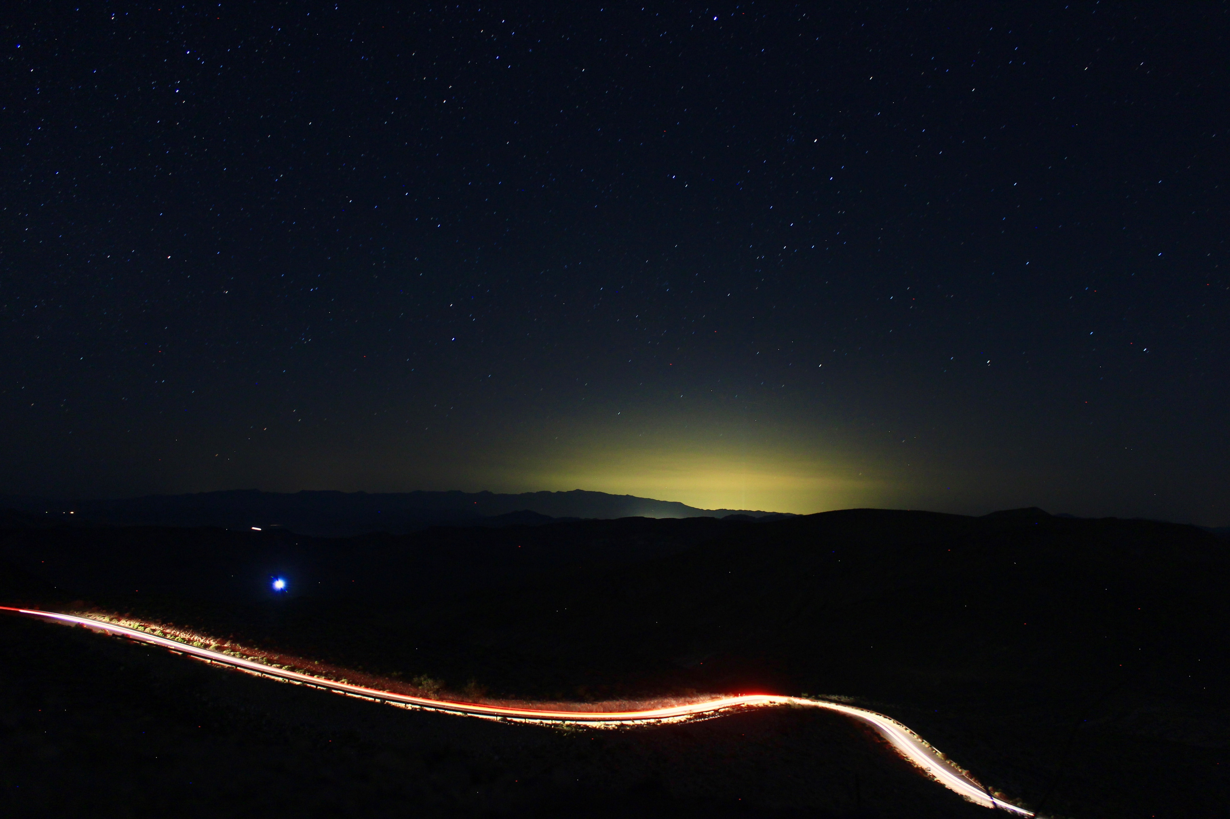 time lapse photography of road at night time