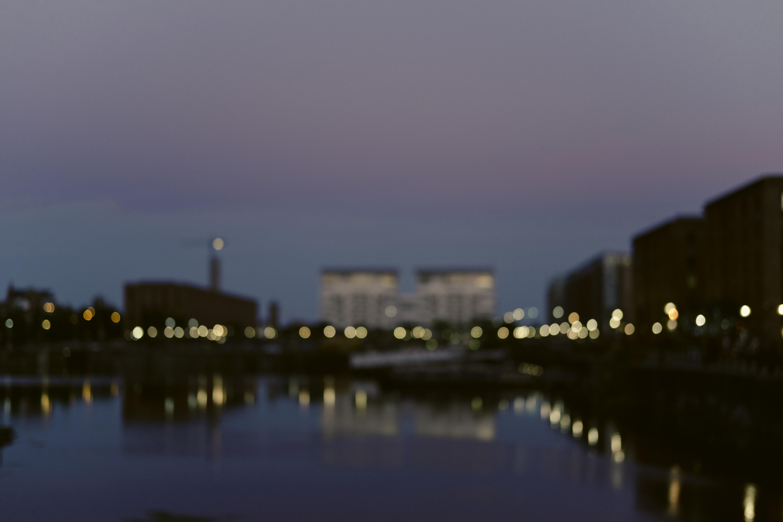 bokeh photography of citylights