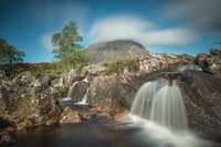 time-lapse photogrpahy of multi-step waterfalls duing daytime