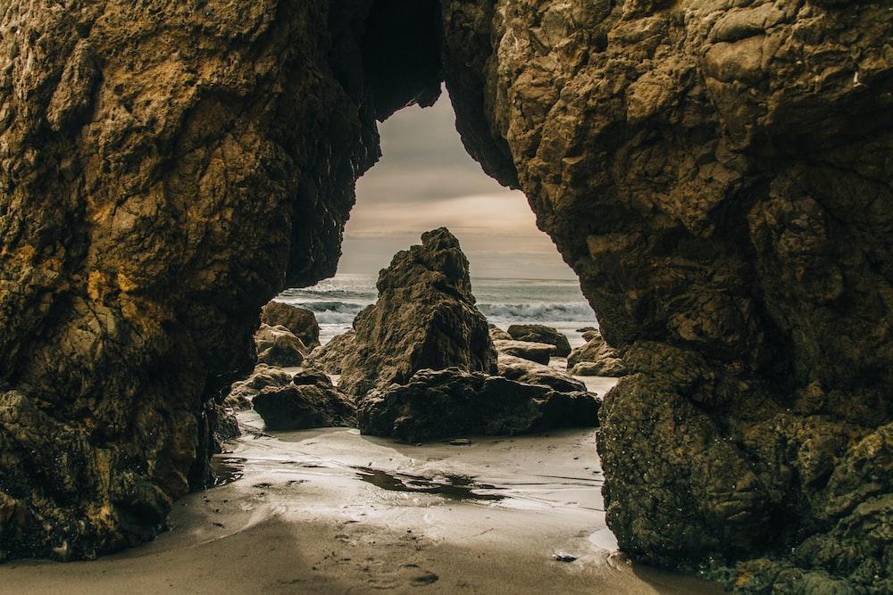 rocky beach shore