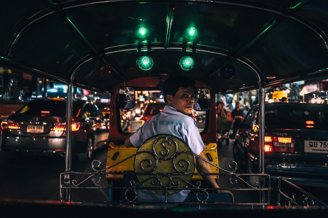 Candid of a Tuk Tuk driver in Bangkok, Thailand