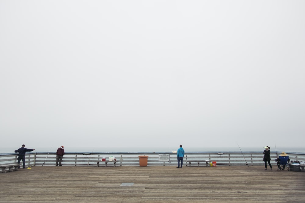 several people on dock