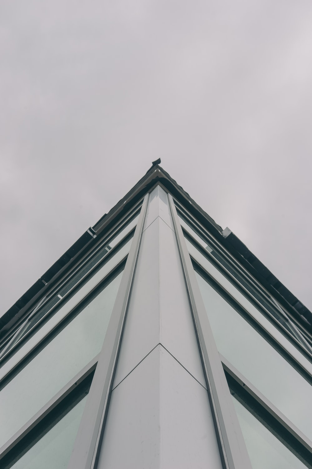low-angle of white building