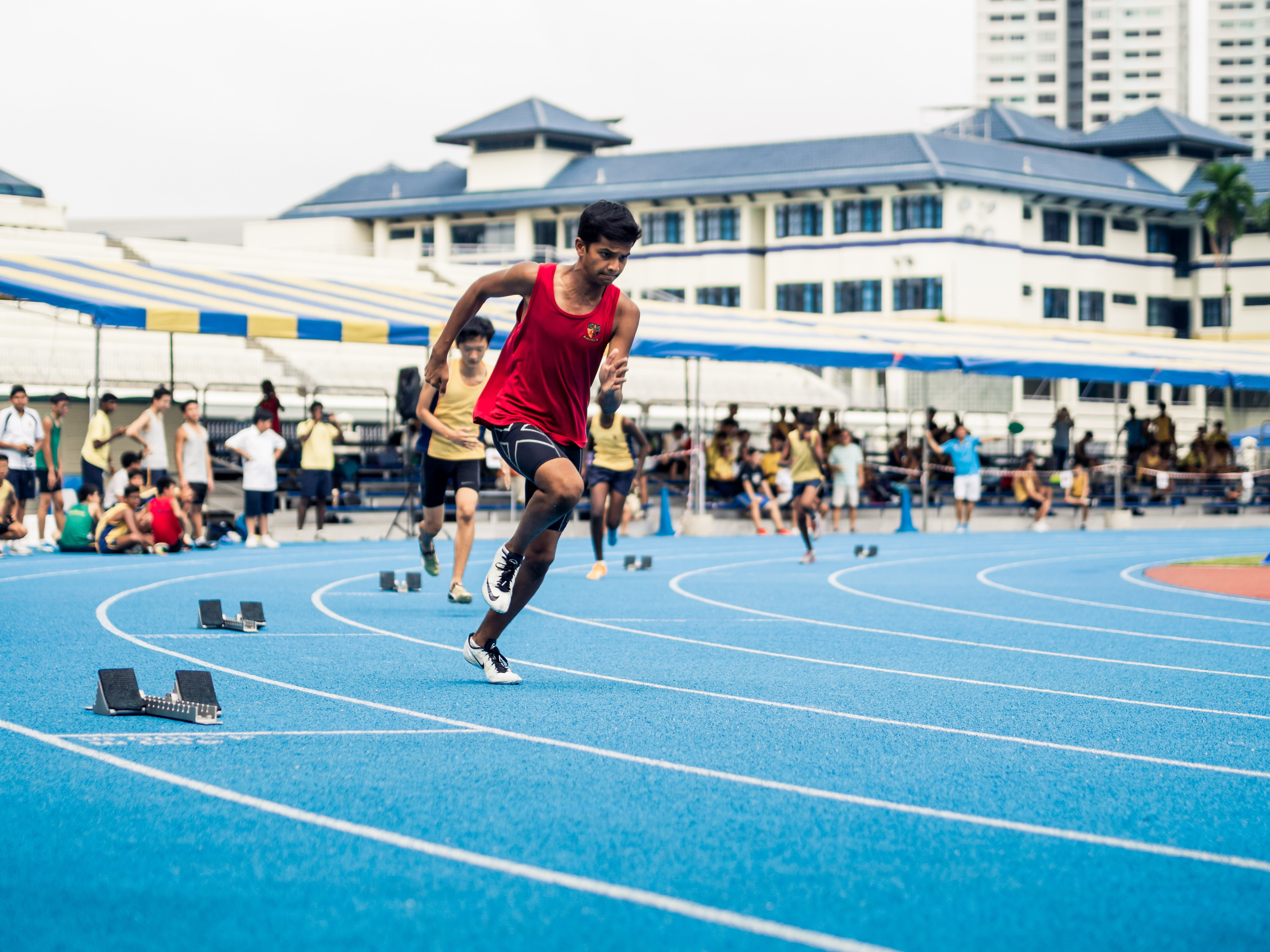 people playing track and field