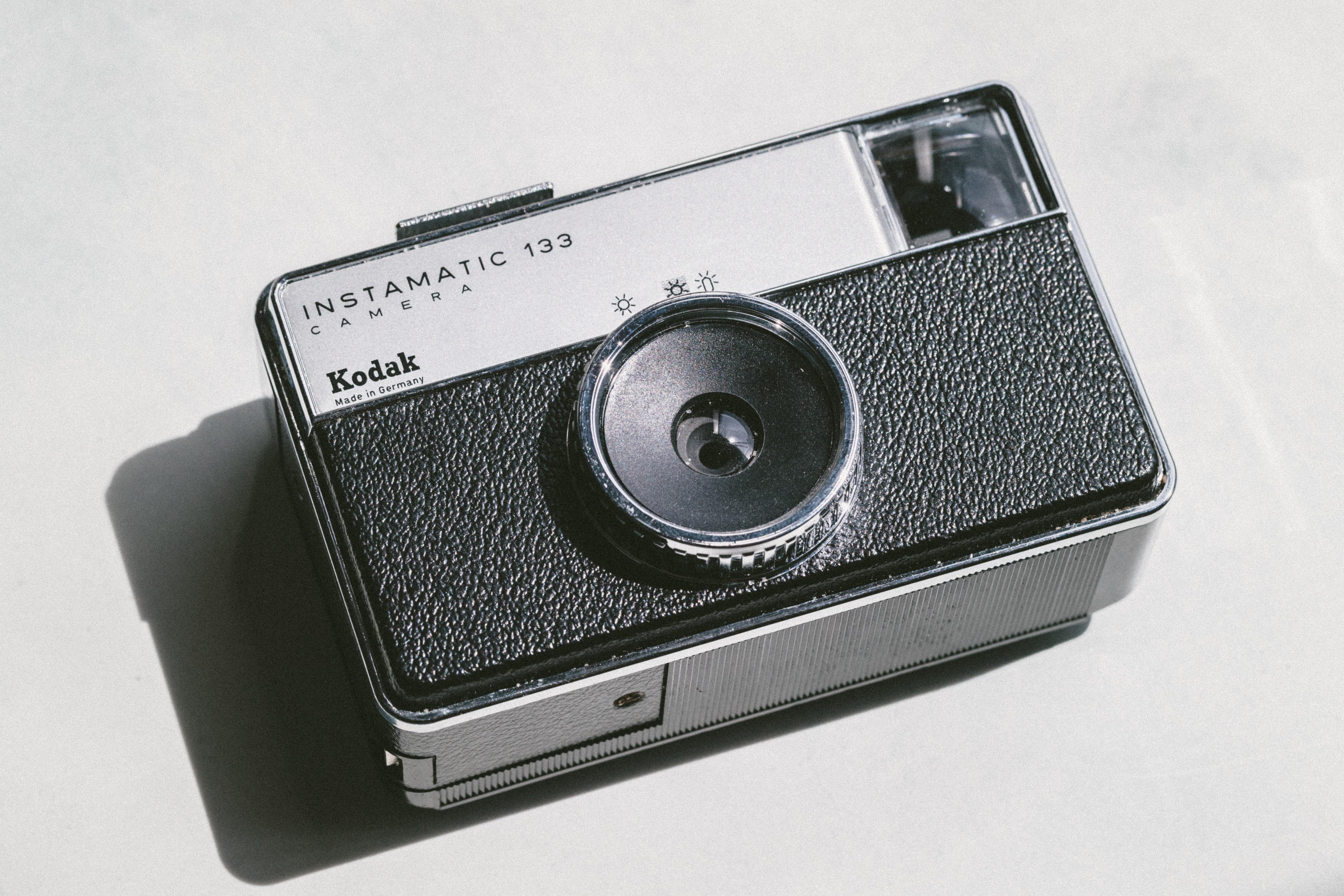 Kodak Instamatic 133 Camera on white surface