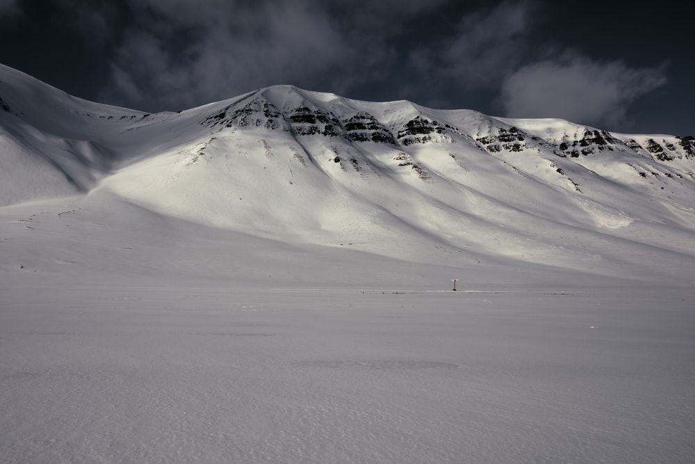 landscape photography of mountain covered in snow