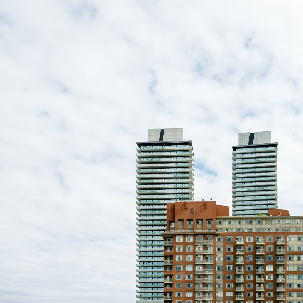 grey high-rise buildings