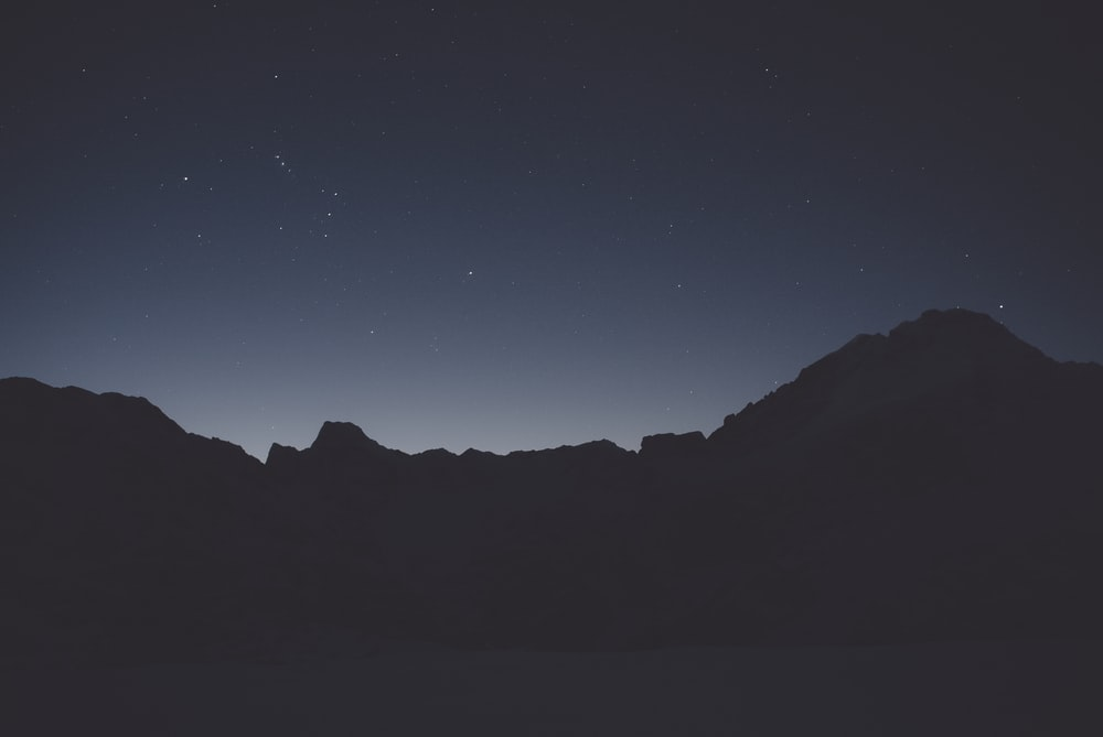 silhouette photo of mountains