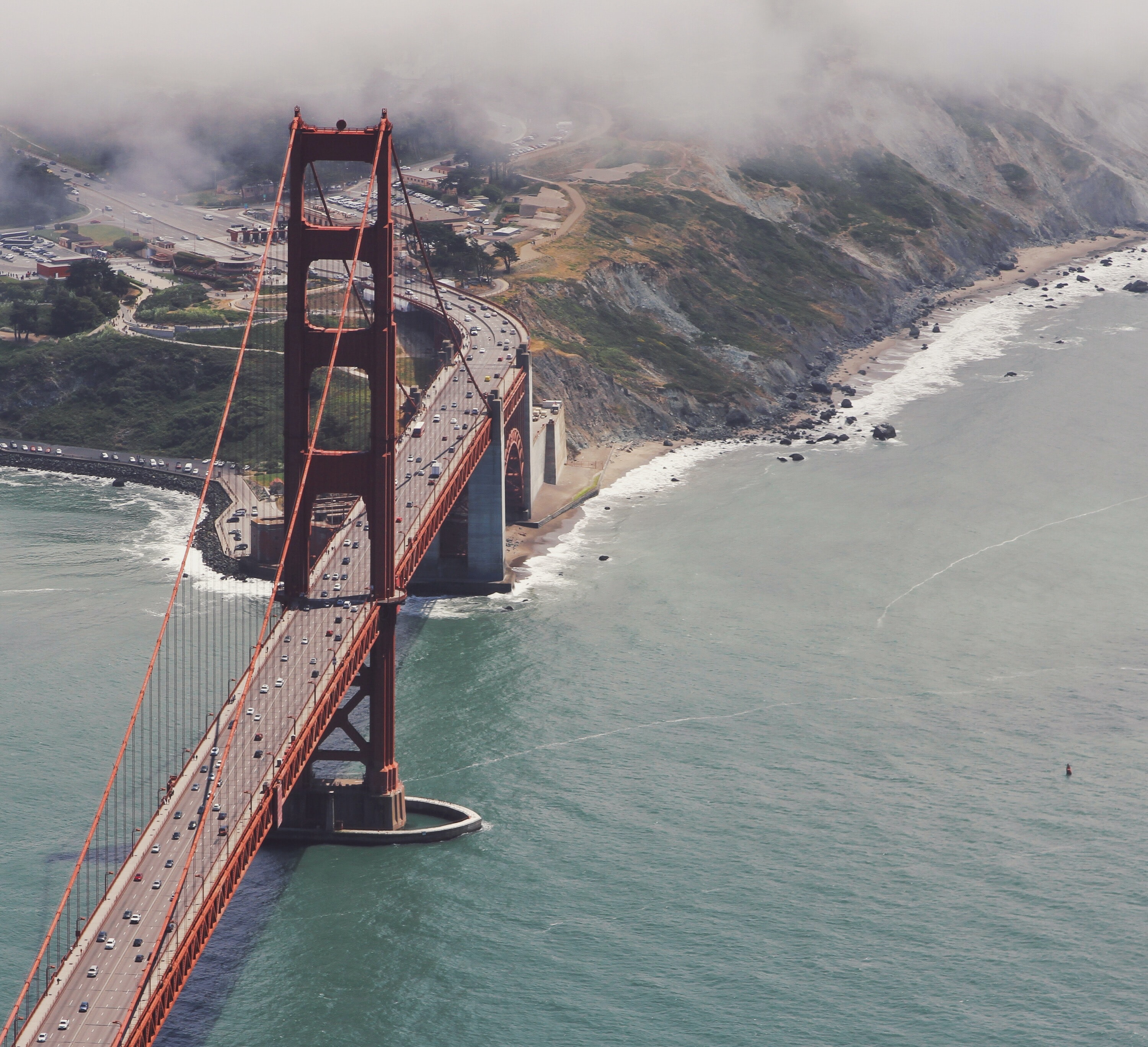 aerial photography of Golden Gate Bridge