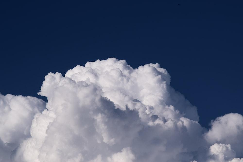 photo of white cumulus cloud