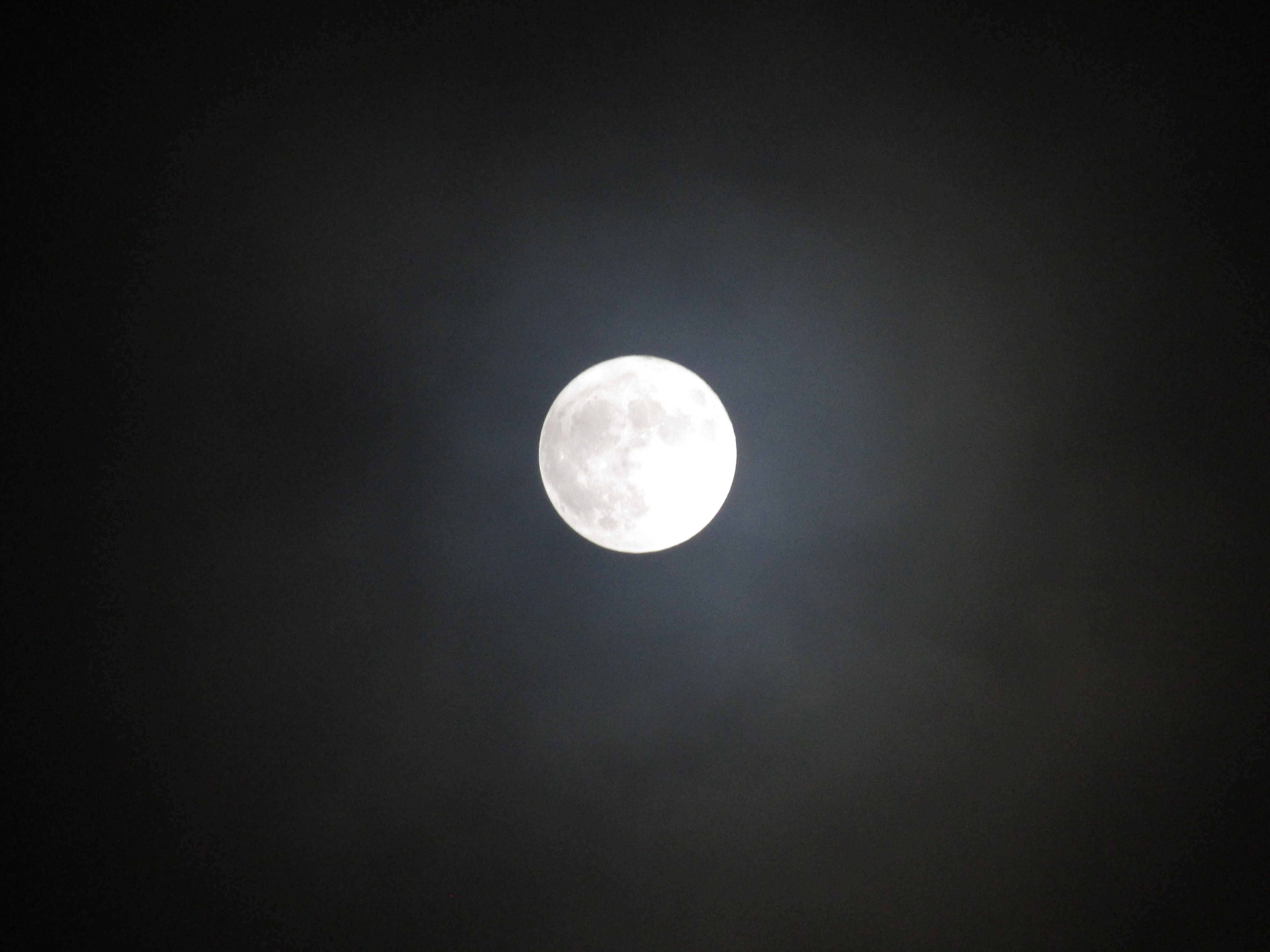 The full moon on the night sky at Tipton, England