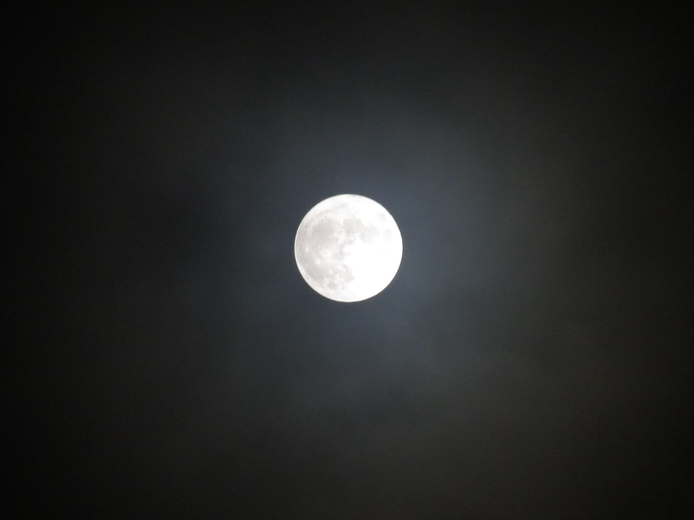 white full moon photo
