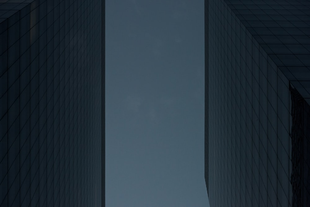 worm's eye view of city buildings
