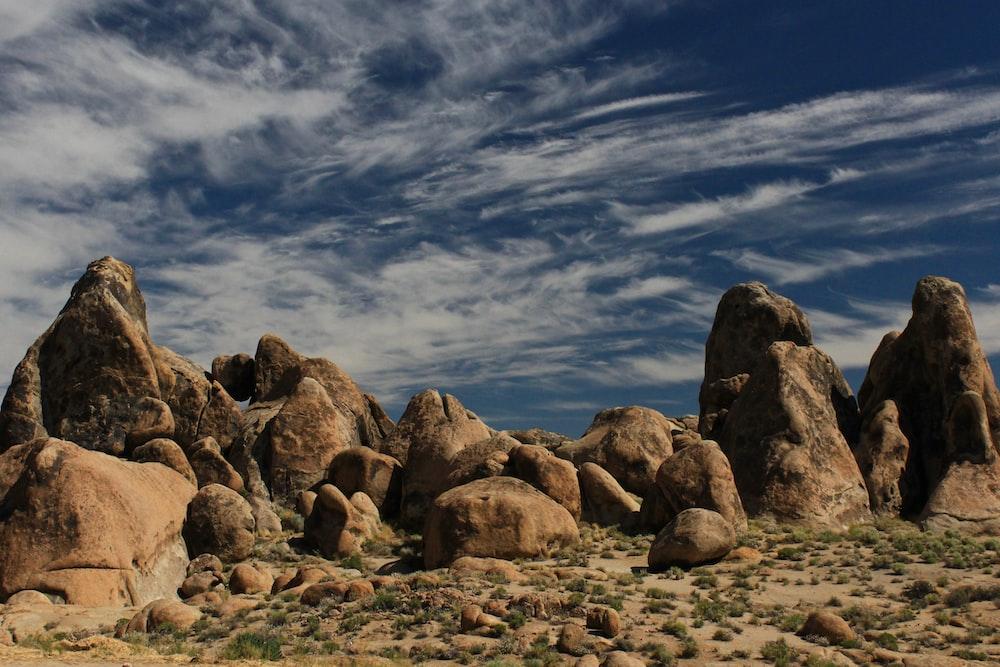 large rocks in desert