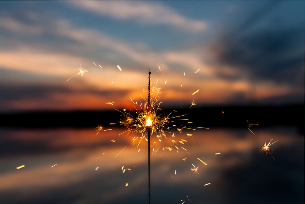 shallow focus photography of fireworks