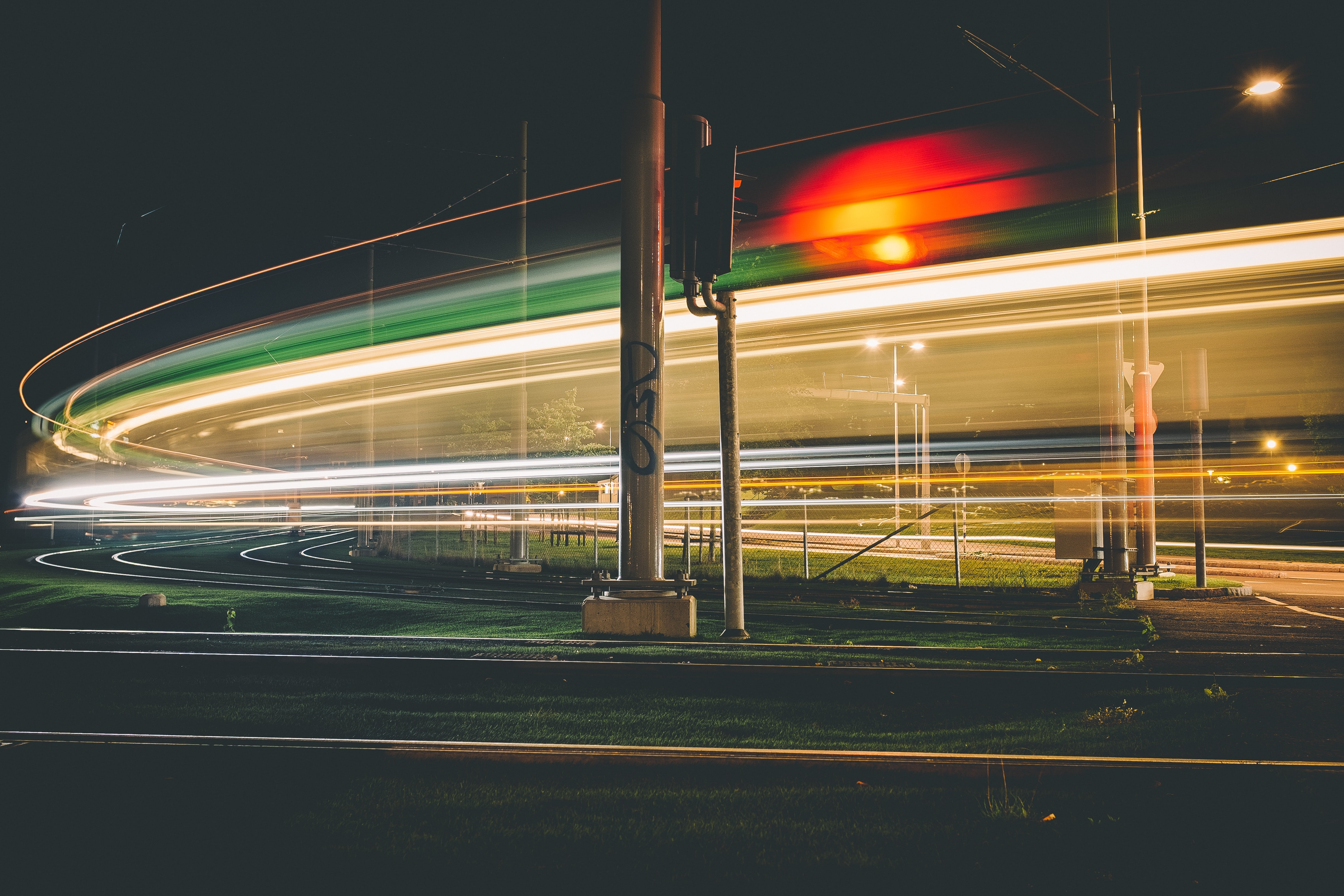 A cool capture of light trails in the urban city of Gothenburg
