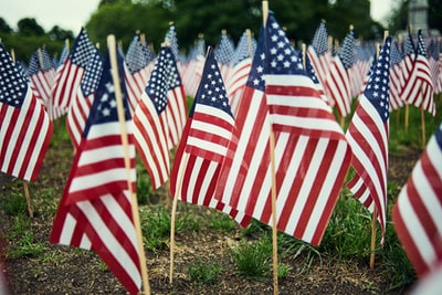 american flag lot memorial day teams background