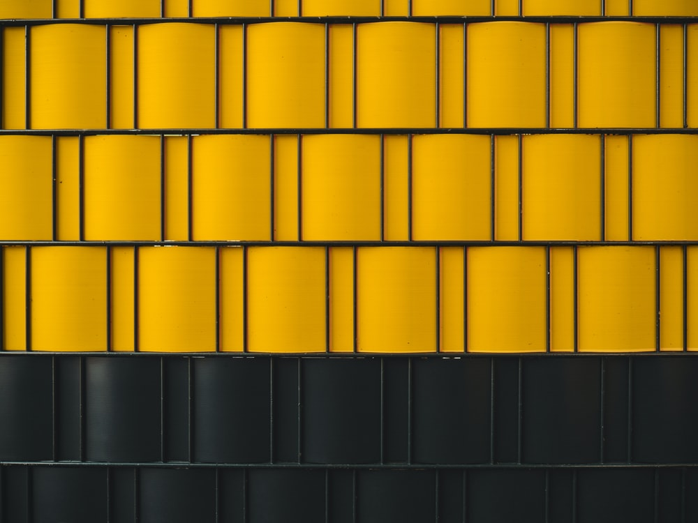digital wallpaper of yellow and black wall