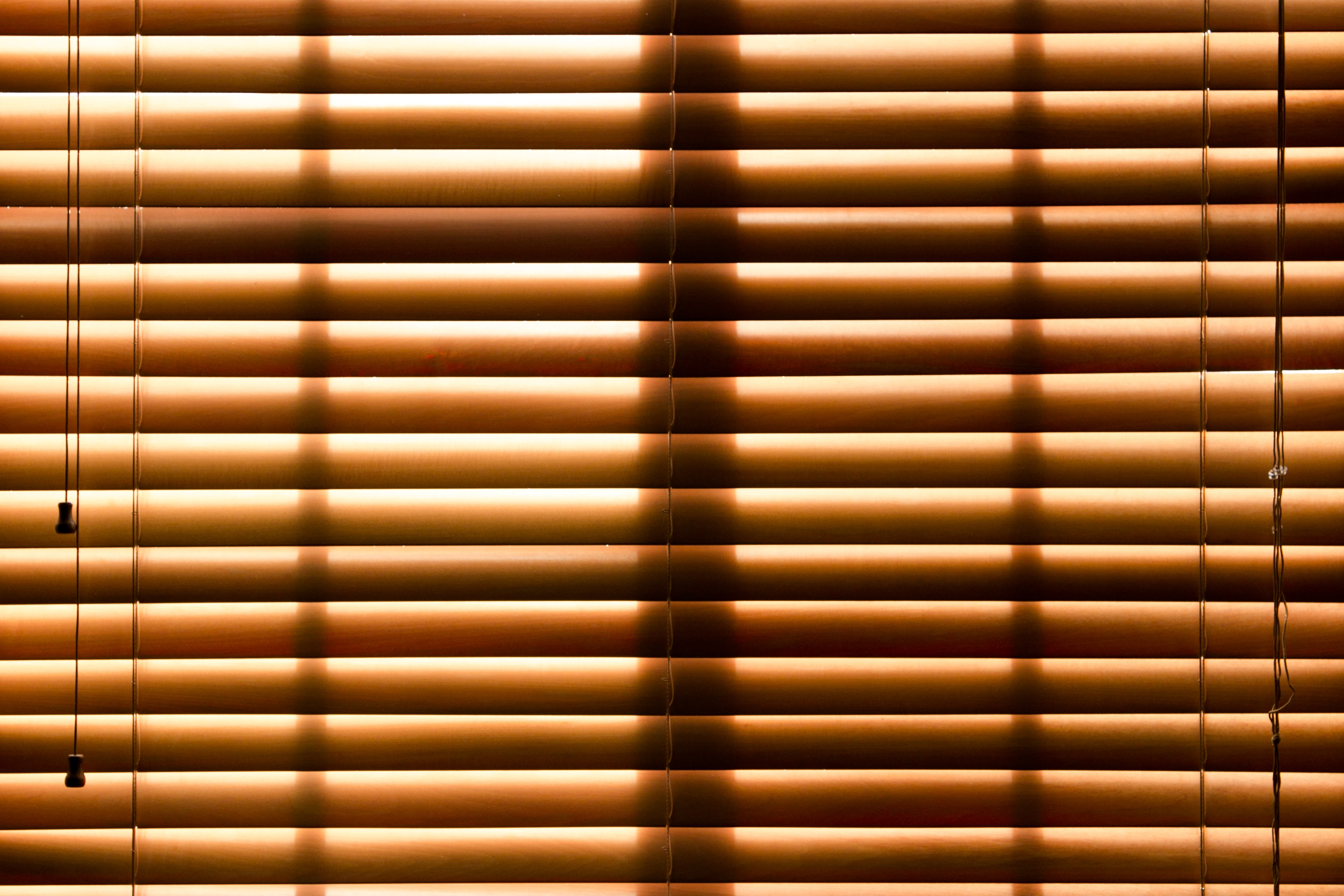 brown closed window blinds