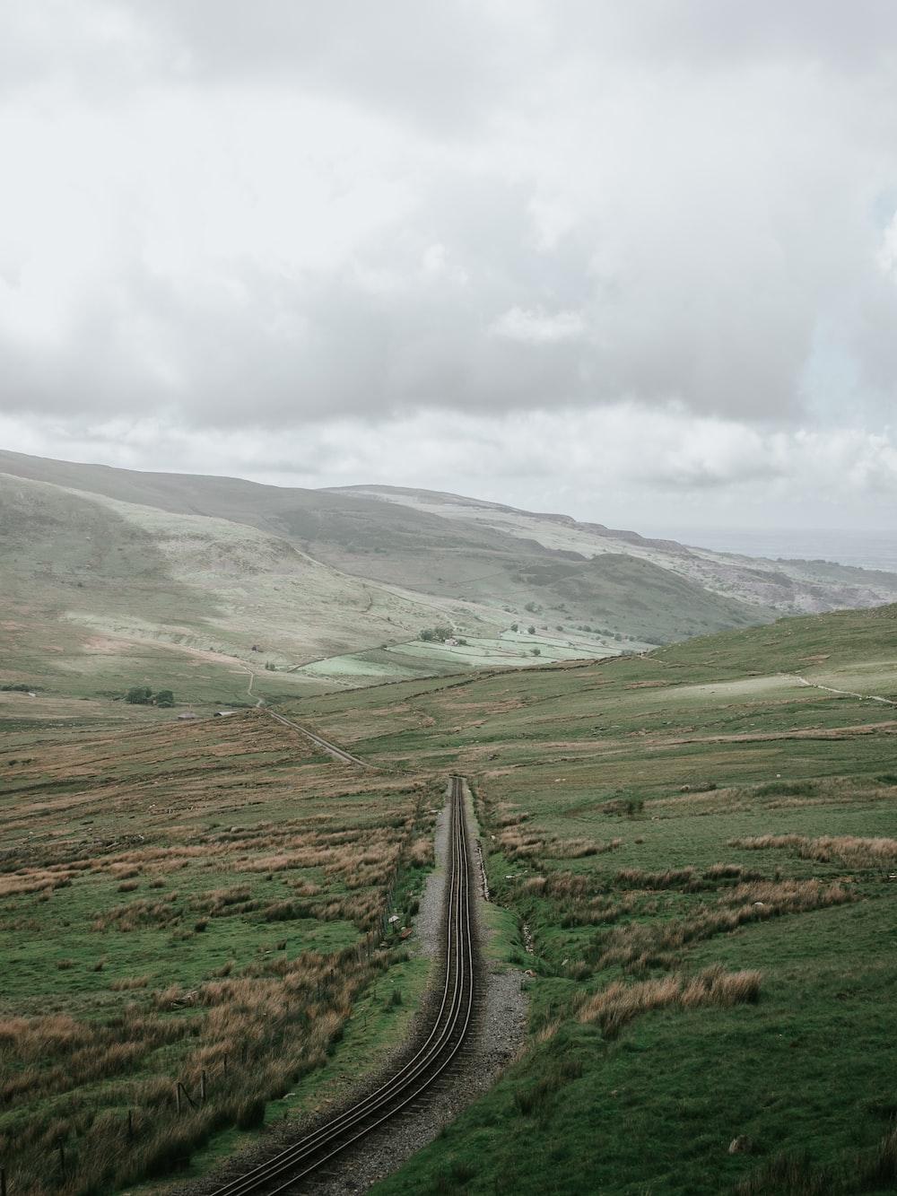 landscape photo of railway