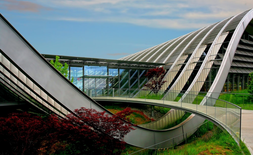 architectural photography of modern building