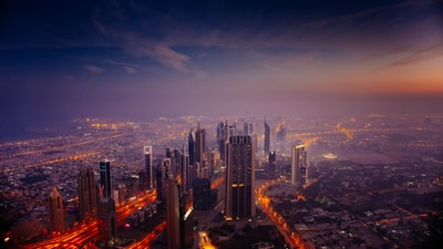 aerial view photography of high rise building dubai teams background