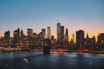 panoramic photography of brooklyn bridge new york city zoom background