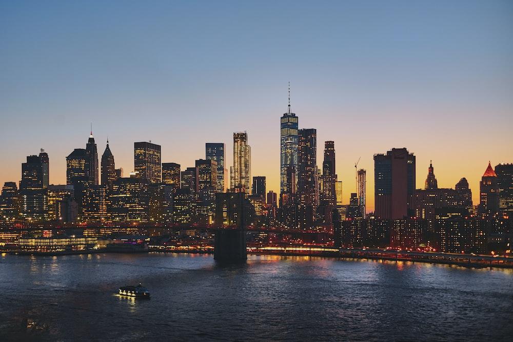 panoramic photography of Brooklyn Bridge