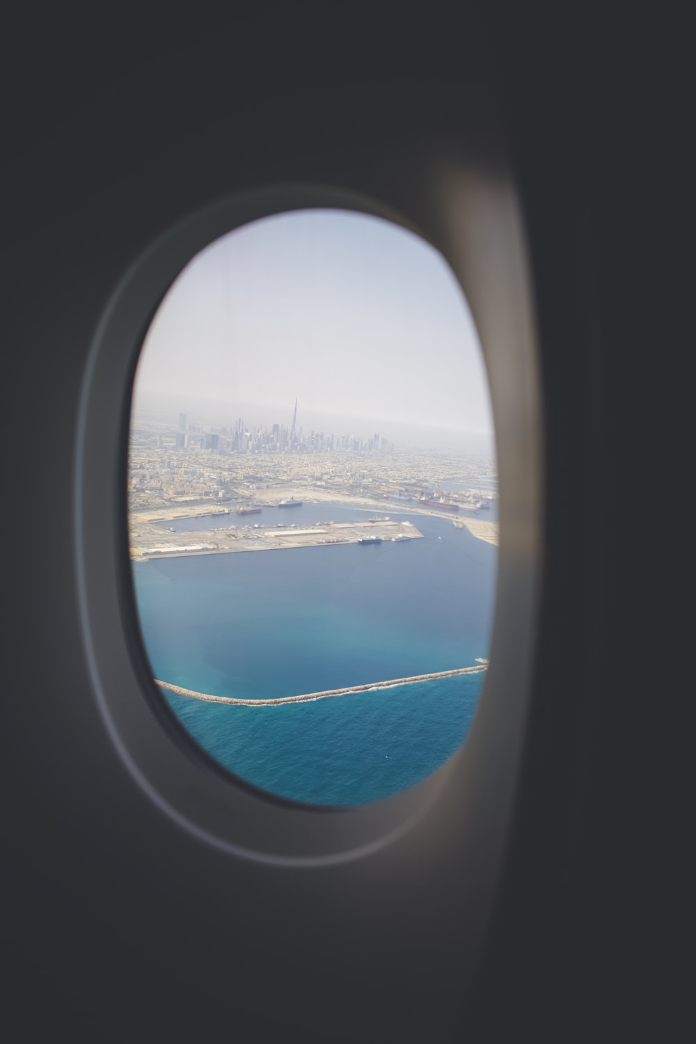 plane window during daytime