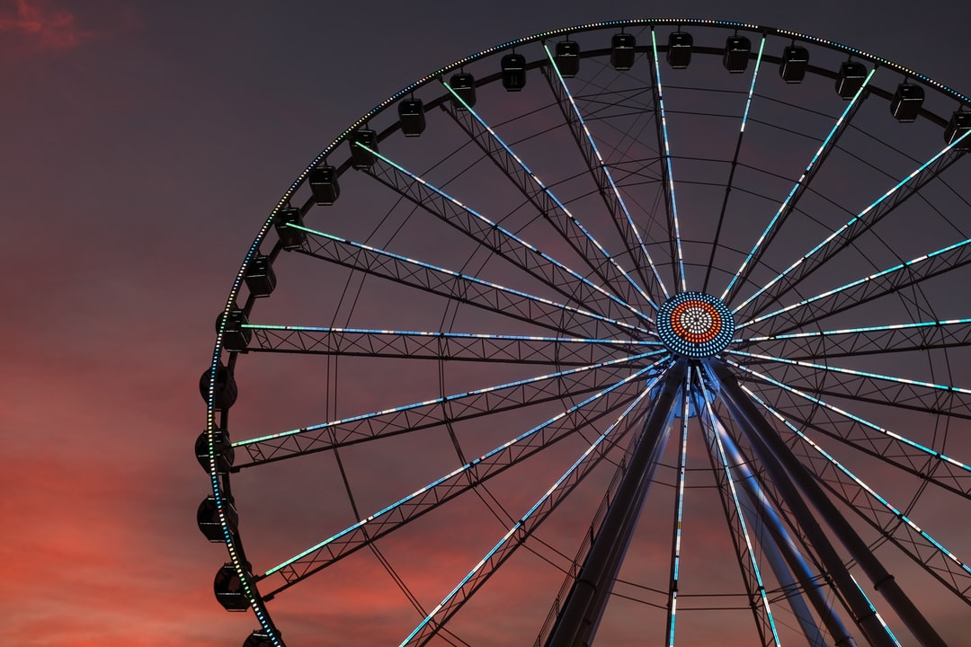 Sunset after taking a ride on this Ferris wheel. Straight out of camera, velvia JPEG. Towering 200 feet tall, the Great Smoky Mountain Wheel sits at the foot of the most visited National Park in the United States–Great Smoky Mountain National Park. As the centerpiece to the Island in Pigeon Forge, it stands as one of the tallest attractions in the Southeast!