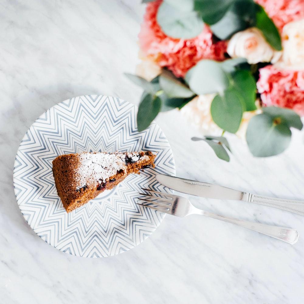 slice on chocolate cake on plate