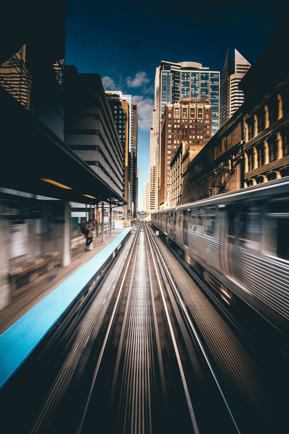 time-lapse photography of train traveling