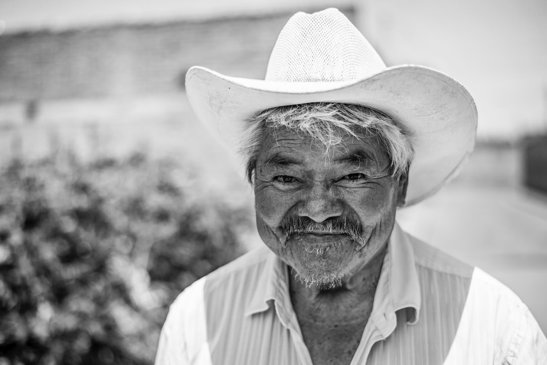 senior man in cowboy hat