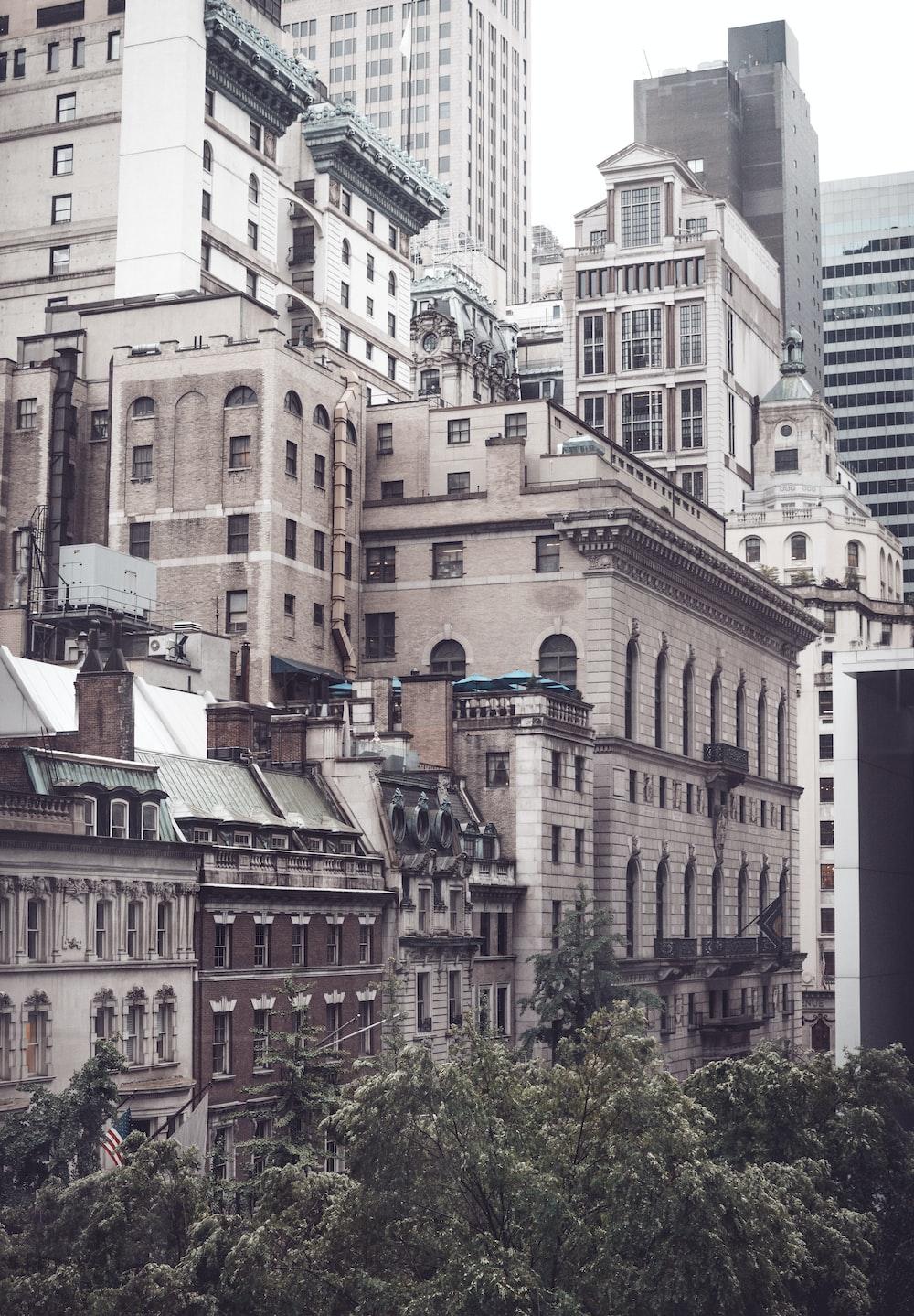 photo of concrete buildings