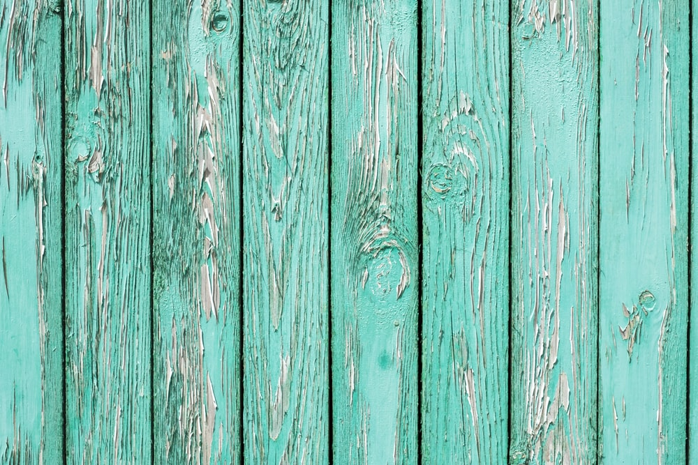 teal wooden pallets