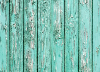 teal wooden pallets