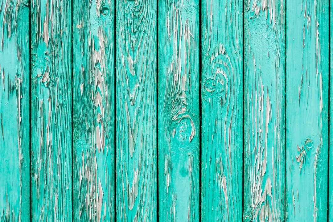 Turquoise wooden wall