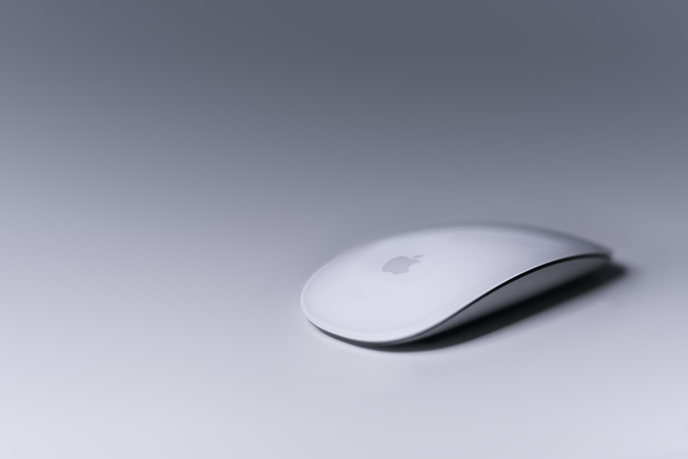 Magic Mouse on white surface