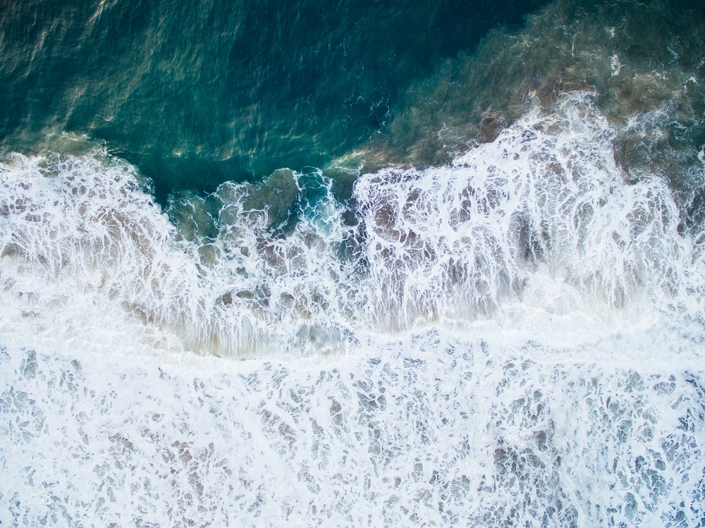 aerial photography of water waves