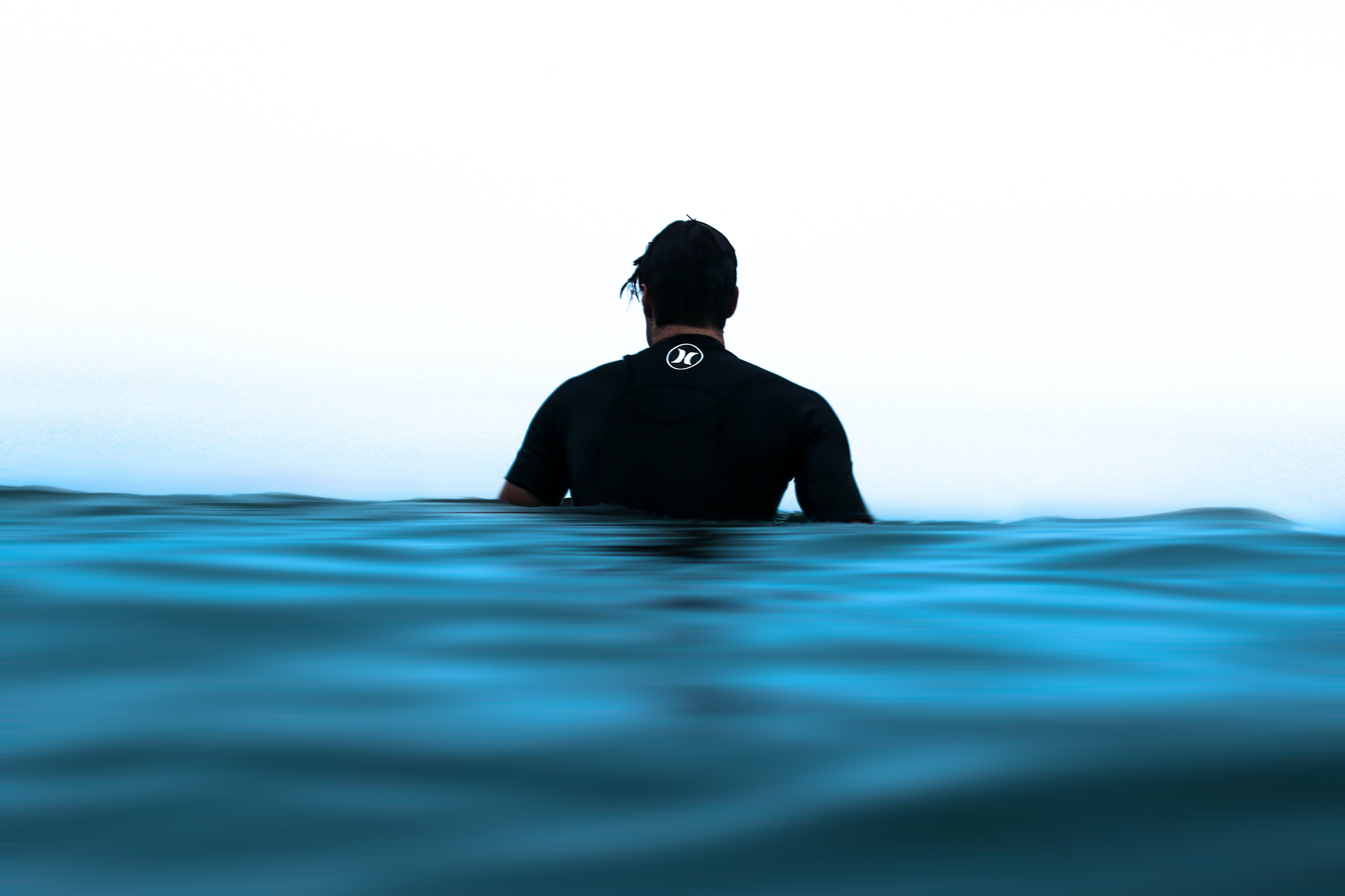 person on body of water