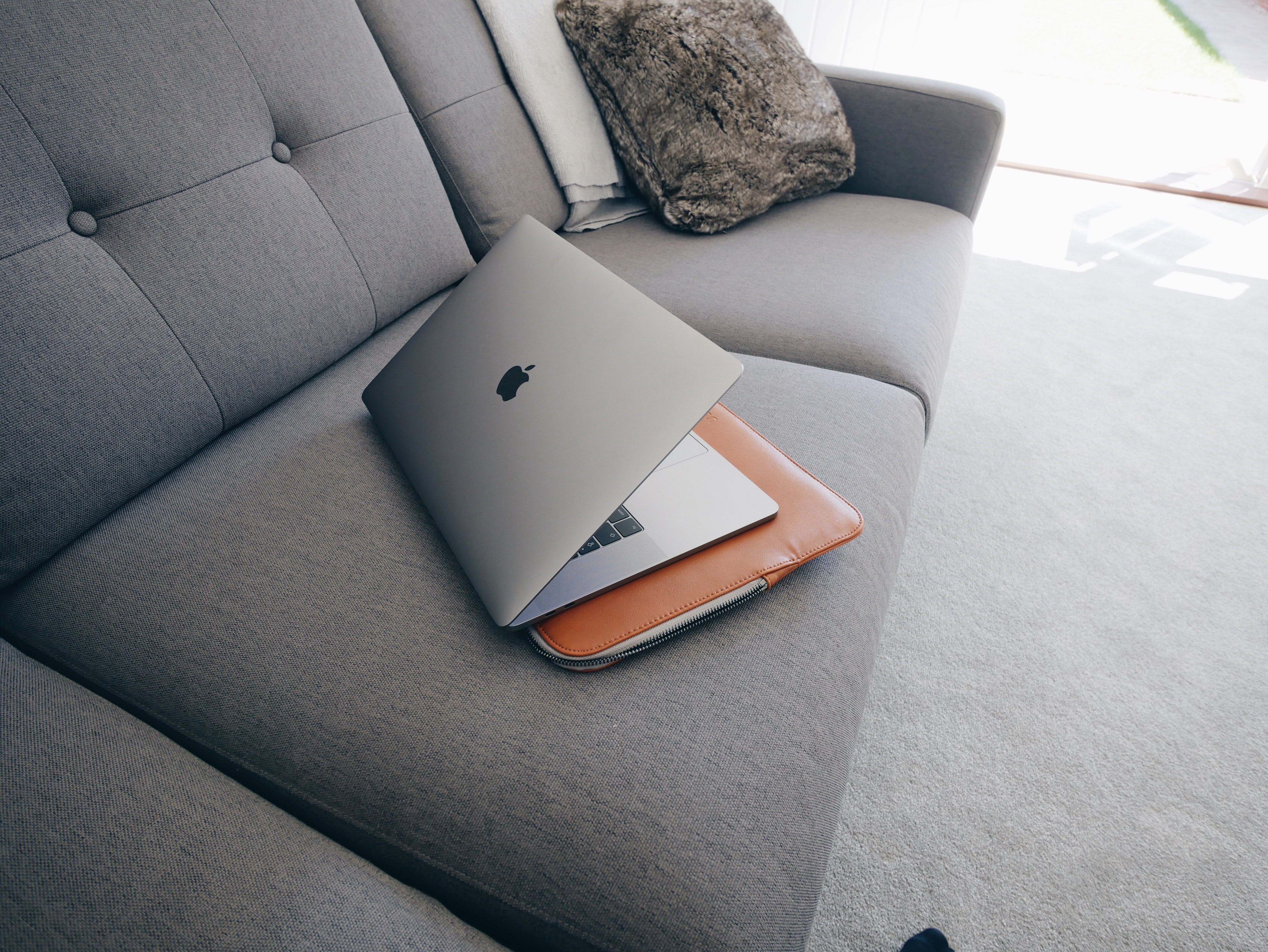 silver MacBook