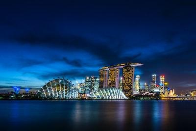 san marina bay, singapore singapore zoom background