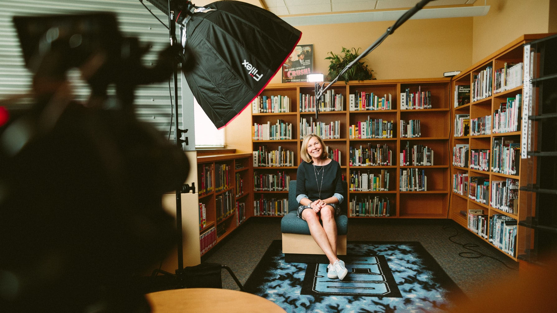 A snap shot from our film set while producing a documentary series for the Holocaust Center for Humanities. Here we are interviewing a local high school about their experience with some of the Center's teaching materials.