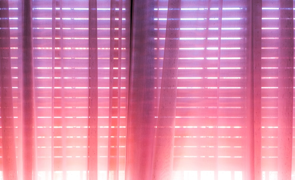 photo of pink and purple ombre curtain
