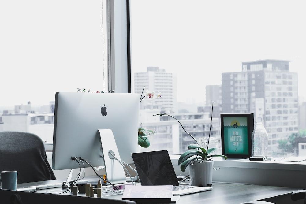 closeup photo of silver iMac