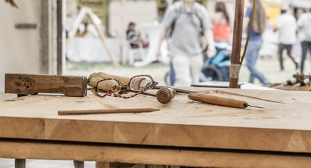 eyeglasses on top of table